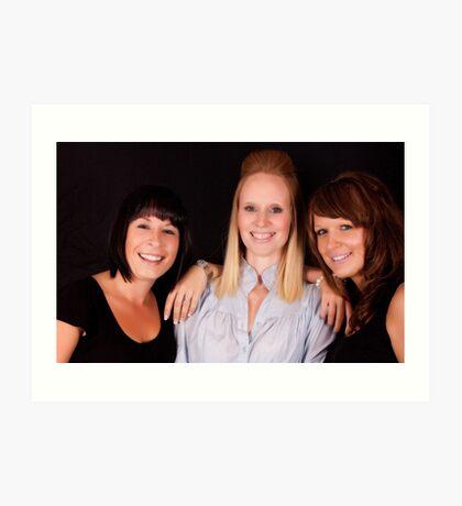 Rebecca, Leanne and Kim 8192 Art Print