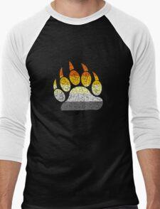 Distressed bear pride flag bear paw geek funny nerd Men's Baseball ¾ T-Shirt