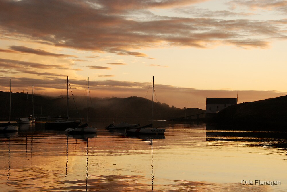 Misty, golden dawn - Baltimore, West Cork, Ireland by Orla Flanagan