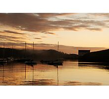 Misty, golden dawn - Baltimore, West Cork, Ireland Photographic Print