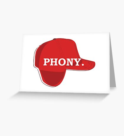 Catcher in the Rye Shirt – Holden Caufield, Phony Greeting Card