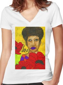 Stung By Love - WIP Women's Fitted V-Neck T-Shirt