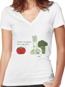 Tomatoes Don't Fit In Women's Fitted V-Neck T-Shirt