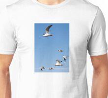 Flying Flock of Seagulls Unisex T-Shirt