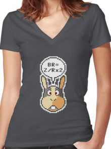 """Peppy Says """"How To Do A Barrel Roll"""" Women's Fitted V-Neck T-Shirt"""