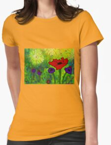 In Morning's Glow Womens Fitted T-Shirt