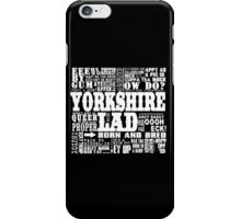 YORKSHIRE LAD WHITE PRINT iPhone Case/Skin