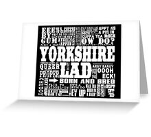 YORKSHIRE LAD WHITE PRINT Greeting Card