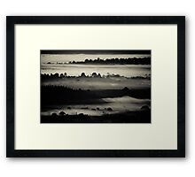 Black Layers of Morning Framed Print