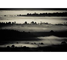 Black Layers of Morning Photographic Print