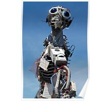 WEEE MAN Waste Electrical and Electronic Recycled Robot Poster