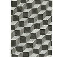 3-D Blocks Photographic Print