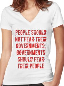 No Fear Women's Fitted V-Neck T-Shirt