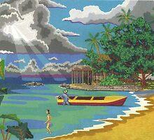 Sunburst  On the Beach. by Terry Conroy