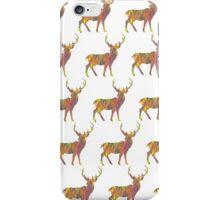 colorful deer pattern iPhone Case/Skin