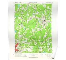 Massachusetts  USGS Historical Topo Map MA Franklin 350149 1964 24000 Poster