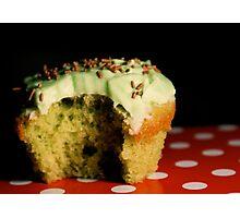 [eye candy] - Green Vanilla Cupcake Photographic Print