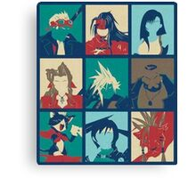 Final Fantasy VII POP Characters Canvas Print