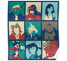 Final Fantasy VII POP Characters Poster