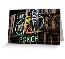 Poker Facade Greeting Card