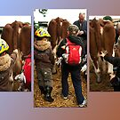 The boys and the cow - triptych by steppeland