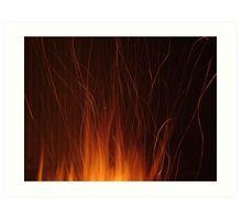 Flaming Embers Bursting Art Print