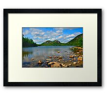 Jordan Pond, Acadia National Park, Bar Harbor, Maine Framed Print