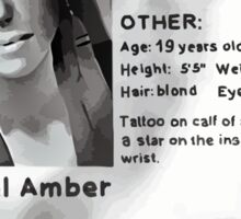 Rachel Amber's Wanted Poster Sticker