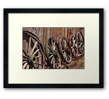 The Wagon Wheels Framed Print