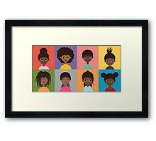 Girl Grid - 8 Framed Print