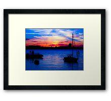Sunset over Gosport from Portsmouth Framed Print