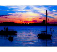 Sunset over Gosport from Portsmouth Photographic Print