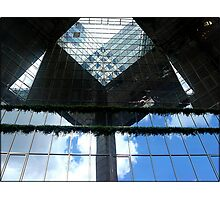 Amazing London - Urban geometries and reflections at the Docklands - (UK) Photographic Print