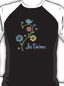 Je t'aime - I love you - dark T-Shirt