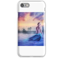 Girl in water sunset nymph iPhone Case/Skin