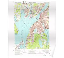 Massachusetts  USGS Historical Topo Map MA Fall River 350944 1967 25000 Poster