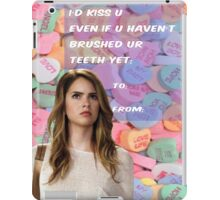 I'D kiss u iPad Case/Skin
