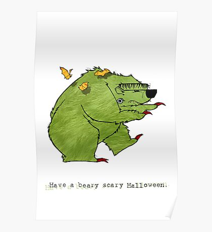 Beary Scary Halloween Poster