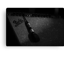 amp and mic Canvas Print
