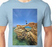 Rocky bridge to the Cretan sea Unisex T-Shirt