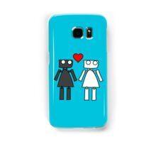 Lady bots in love geek funny nerd Samsung Galaxy Case/Skin