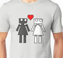 Lady bots in love geek funny nerd Unisex T-Shirt