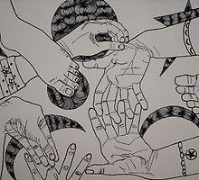 Cosmic Hands  by laruecherie