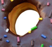 Chocolate Sprinkled Doughnut Sticker