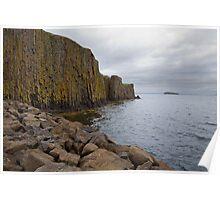 Basalt Rockface in Stykkishólmur Poster