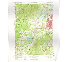 Massachusetts  USGS Historical Topo Map MA Pittsfield West 350467 1959 24000 Poster