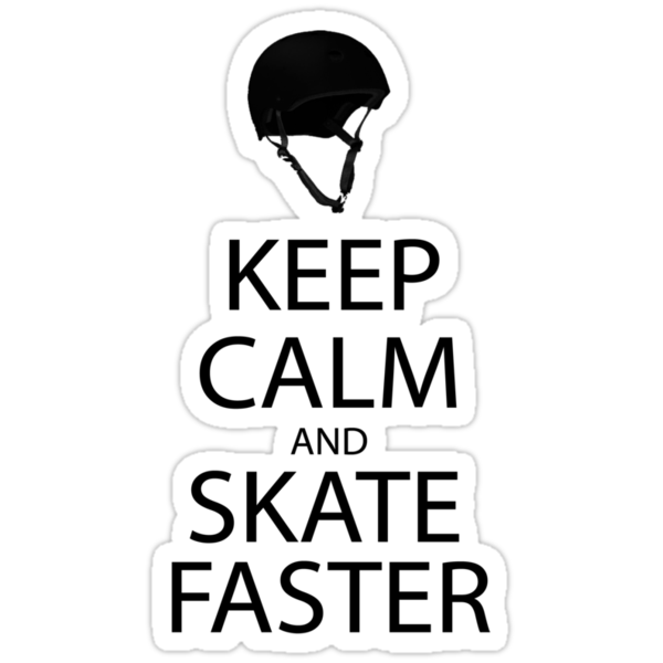 keep calm and skate sticker by Liz Sterry