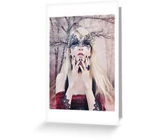 Maria Amanda - elven woman girl gothic Greeting Card