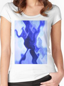 Blue Octopus Women's Fitted Scoop T-Shirt