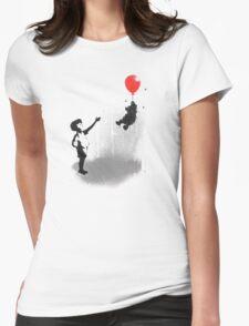 Little Black Rain Cloud Womens Fitted T-Shirt